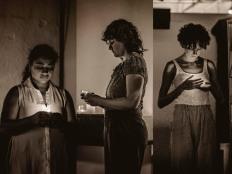 Liliana Argumedo, Xdzunúm Trejo, Tamar Tabori. Photo: Chris Mancini, mkmiphoto.
